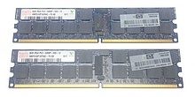 16 GB KIT (2x 8 GB) PC2-5300 ECC Reg HP 408855-B21