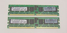 2 GB KIT PC2-3200 ECC Reg. 343056-B21